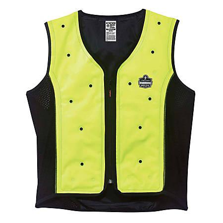 Ergodyne Chill-Its Evaporative Cooling Vest, Premium, Medium, Lime, 6685