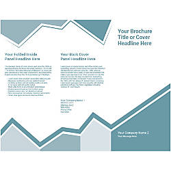 Customizable Trifold Brochure Pale Blue Design