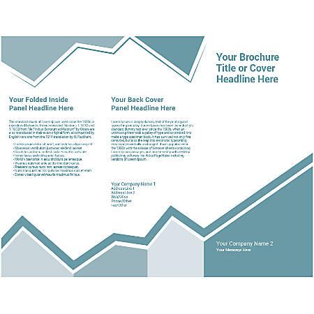 Customizable Trifold Brochure, Pale Blue Design