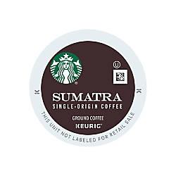 Starbucks Pods Sumatra Coffee K Cup