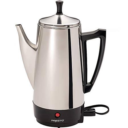 Presto 02811 Coffeemaker - 800 W - 12 Cup(s) - Multi-serve - Stainless Steel