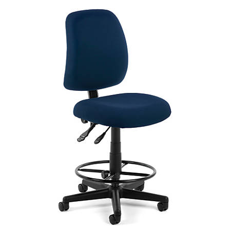 OFM Posture Series Fabric Task Chair With Drafting Kit, Navy/Black