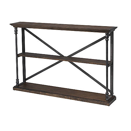 "Coast to Coast Corbin Wood Console Table, 8""D, Brown"