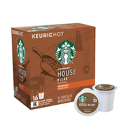 Starbucks House Blend Coffee K-Cup® Pods, Box Of 16 Pods