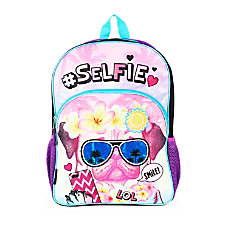dELiAs Girl Backpack Selfie Pug