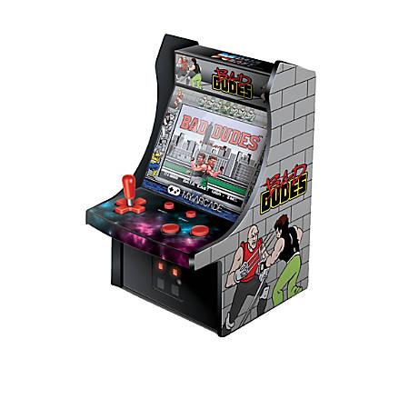 "Dreamgear 6"" Retro Bad Dudes Micro Arcade Cabinet, Green, DG-DGUNL-3214"