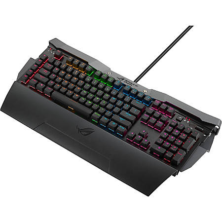 Asus ROG GK2000 Horus Mechanical Gaming Keyboard - Cable Connectivity - USB Interface - Windows - Mechanical Keyswitch