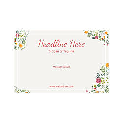 Adhesive Sign Horizontal Floral Design 6
