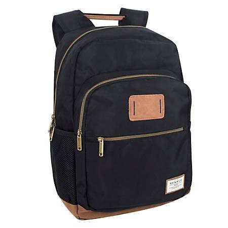 "Trailmaker Dome Backpack With 17"" Laptop Pocket, Black/Brown"