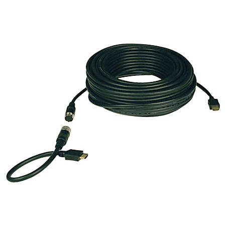 Tripp Lite 25ft High Speed HDMI Cable Digital Video with Audio Easy Pull 1080p M/M 25' - HDMI for Audio/Video Device - 25 ft - 1 x HDMI Male Digital Audio/Video - 1 x HDMI Male Digital Audio/Video - Shielding - Black