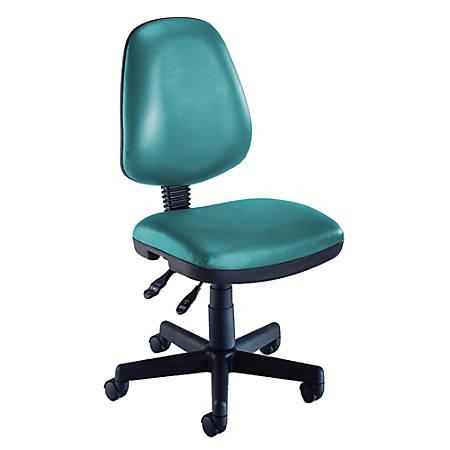 "OFM Computer Anti-Microbial Vinyl Task Chair, 42""H x 22""W x 24""D, Teal/Black"