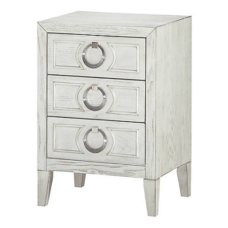 Coast To Coast 3-Drawer Chairside Chest, White