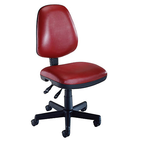 OFM Computer Anti-Microbial Vinyl Task Chair, Wine/Black