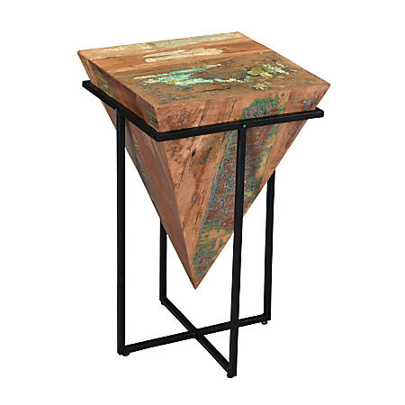 "Coast To Coast Triangle Accent Table, 26-1/2""H x 16""W x 16""D, Brown"