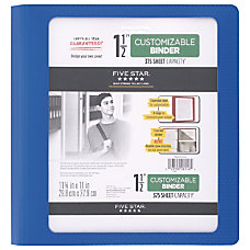 Five Star Customizable Binder 1 12