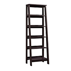 Sauder Trestle Bookcase 5 Shelves Jamocha