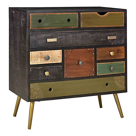 Coast To Coast 9-Drawer Chest, Multicolor