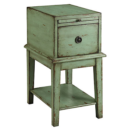 Coast to Coast 1-Drawer Wood Chest Table, Green