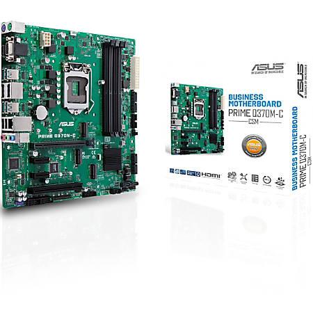 Asus Prime Q370M-C/CSM Desktop Motherboard - Intel Chipset - Socket H4 LGA-1151 - 64 GB DDR4 SDRAM Maximum RAM - DIMM, UDIMM - 4 x Memory Slots - Gigabit Ethernet - 4 x USB 3.1 Port - HDMI - 6 x SATA Interfaces