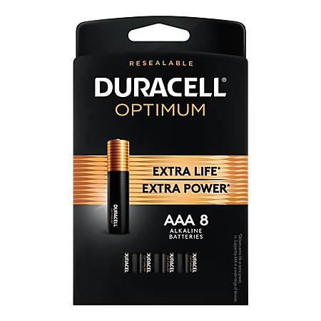 Duracell Optimum AAA Batteries, Pack of 8