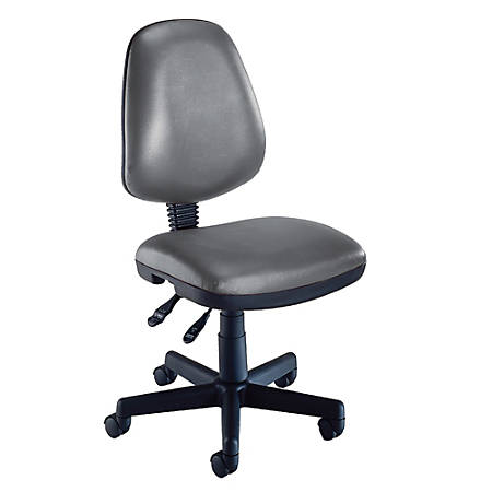 "OFM Computer Anti-Microbial Vinyl Task Chair, 42""H x 22""W x 24""D, Charcoal/Black"