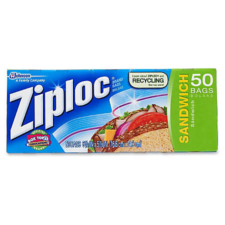 Ziploc Sandwich Bags Box Of 50 Item 673010