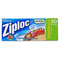 Ziploc Sandwich Bags Box Of 50