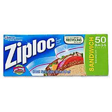 Ziploc Sandwich Bags Box Of 50