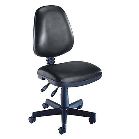 "OFM Computer Anti-Microbial Vinyl Task Chair, 42""H x 22""W x 24""D, Black/Black"