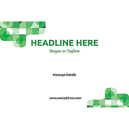 Custom Perforated Window Decal Template, Green Abstract 1