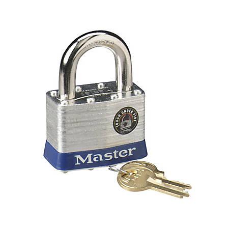"""Master Lock 2"""" Steel Security Padlock - Cut Resistant - Steel Body - Silver - 1 Each"""