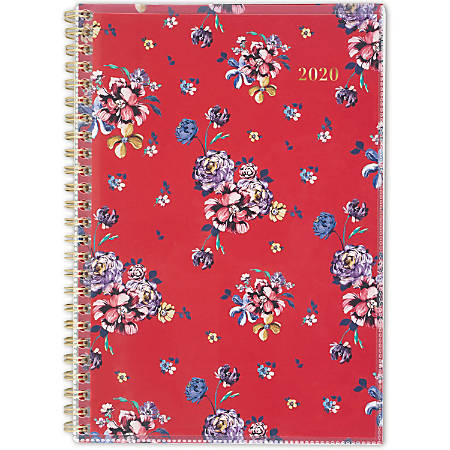 """Cambridge® Rouge Customizable Weekly/Monthly Planner, 5-1/2"""" x 8-1/2"""", Multicolor, January to December 2020, 1264-201"""
