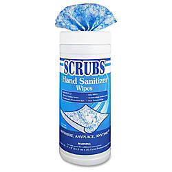 SCRUBS Antimicrobial Hand Sanitizer Wipes Box