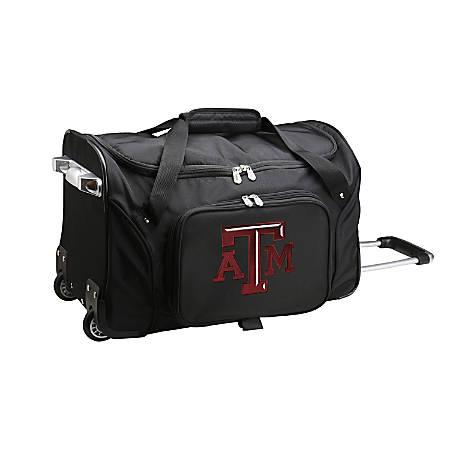 Denco Sports Luggage Rolling Duffel Bag, Texas A&M Aggies, Black