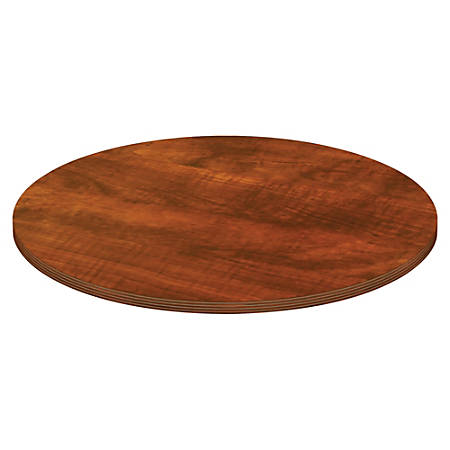 Lorell® Chateau Series Round Conference Table Top, 4'W, Cherry