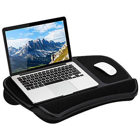 "LapGear Laptop Lap Desk, 22-1/4"" x 15-3/4"", Black"