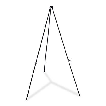 "Lorell® Adjustable Folding Display Easel, Heavy-Duty, 63"", Black"