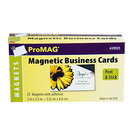 Promag Adhesive Business Card Magnets Pack Of 25 Office Depot