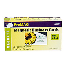 ProMAG Adhesive Business Card Magnets Pack