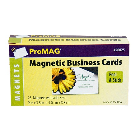 promag adhesive business card magnets pack of 25 by office depot officemax - Business Card Magnets