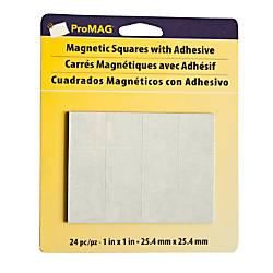 ProMAG Magnetic Squares 1 BlackWhite Pack
