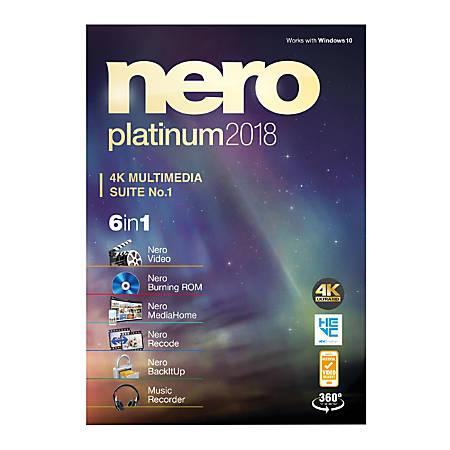 Nero Platinum 2018, Traditional Disc