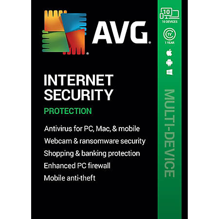 AVG Internet Security 2020 | 10 Devices 1 Year | Download