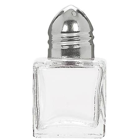"Amscan Mini Salt And Pepper Shakers, 1-3/4"" x 1-1/8"", Clear, 12 Shakers Per Pack, Set Of 2 Packs"
