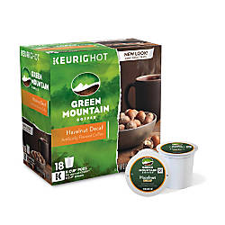 Green Mountain Coffee Pods Hazelnut Decaffeinated
