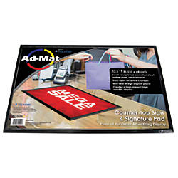 Artistic Admat Counter Mat 13 X 19 Black Office Depot