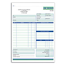 Custom Forms Job Invoice Ruled 2