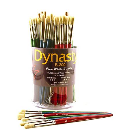 dynasty fine white bristle paint brushes b 200 assorted sizes