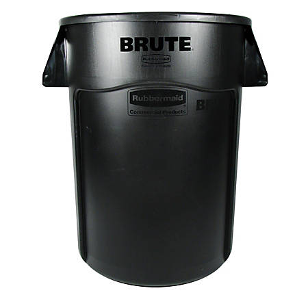 Rubbermaid® Brute® 44-Gallon Waste Container, Black