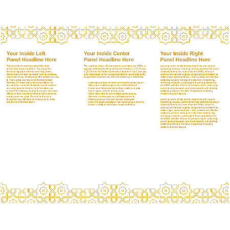 Customizable Trifold Brochure, Orange Mosaic